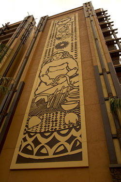 Disney aulani resort and spa building artwork
